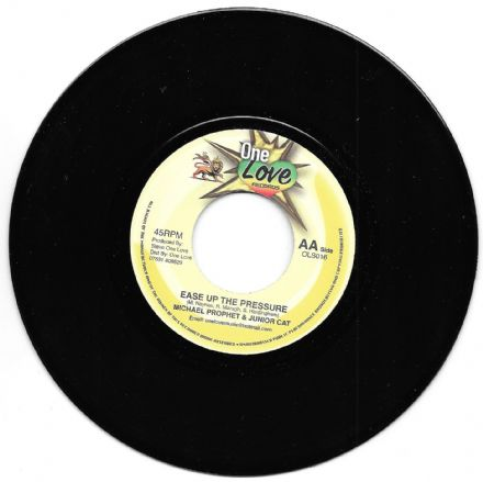Michael Prophet & Junior Cat - Ease Up The Pressure / Ras Sherby - Stand Up (One Love) 7""